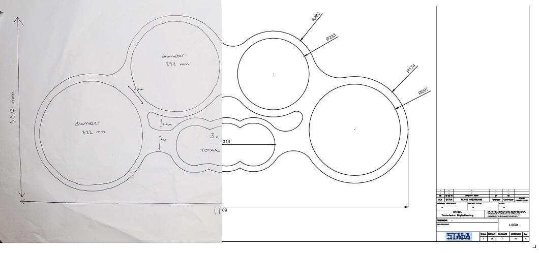 tenorpad tekening cnc dxf